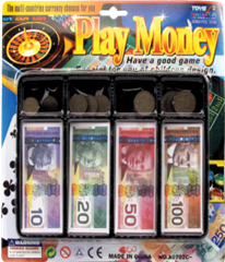 CANADA PLAY MONEY SET 12PCS/PK