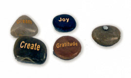 GRATITUDE ROCK w MAGNE - POLISHED  48PCS/PK