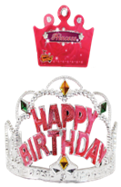 TIARA HAPPY BIRTHDAY 12PCS/PK