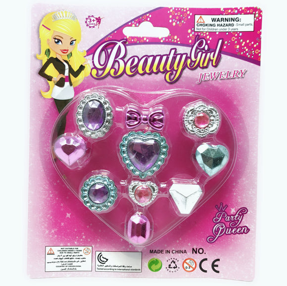 JEWELLERY SET 10PCS RINGS; 12PCS/PK