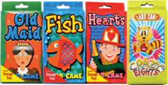 GAME CARD-4 ASSORTED GAMES - 16PCS/PK