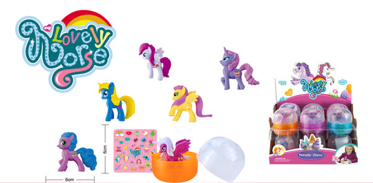 Pony in Egg 2.5'' 6 styles assorted 12/display