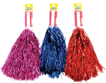 METALIC POM-POM-6 COLOR ASST 12PCS/PK