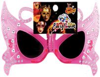 BUTTERFLY PARTY GLASSES  12PCS /PK