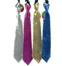 GLITTERY TIE-ASST. COLOR  12PCS/PK