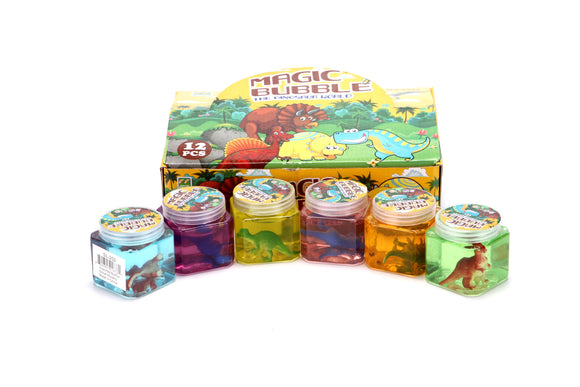 CRYSTAL MUD SLIME-DINOSAUR assorted design 12pcs/pk