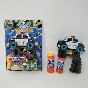 "Bubble Gun with Light and Music Police Car 6.5"" 6 pcs/pk (batteries not included)"