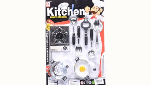 Kitchen play set; 2 Designs assorted
