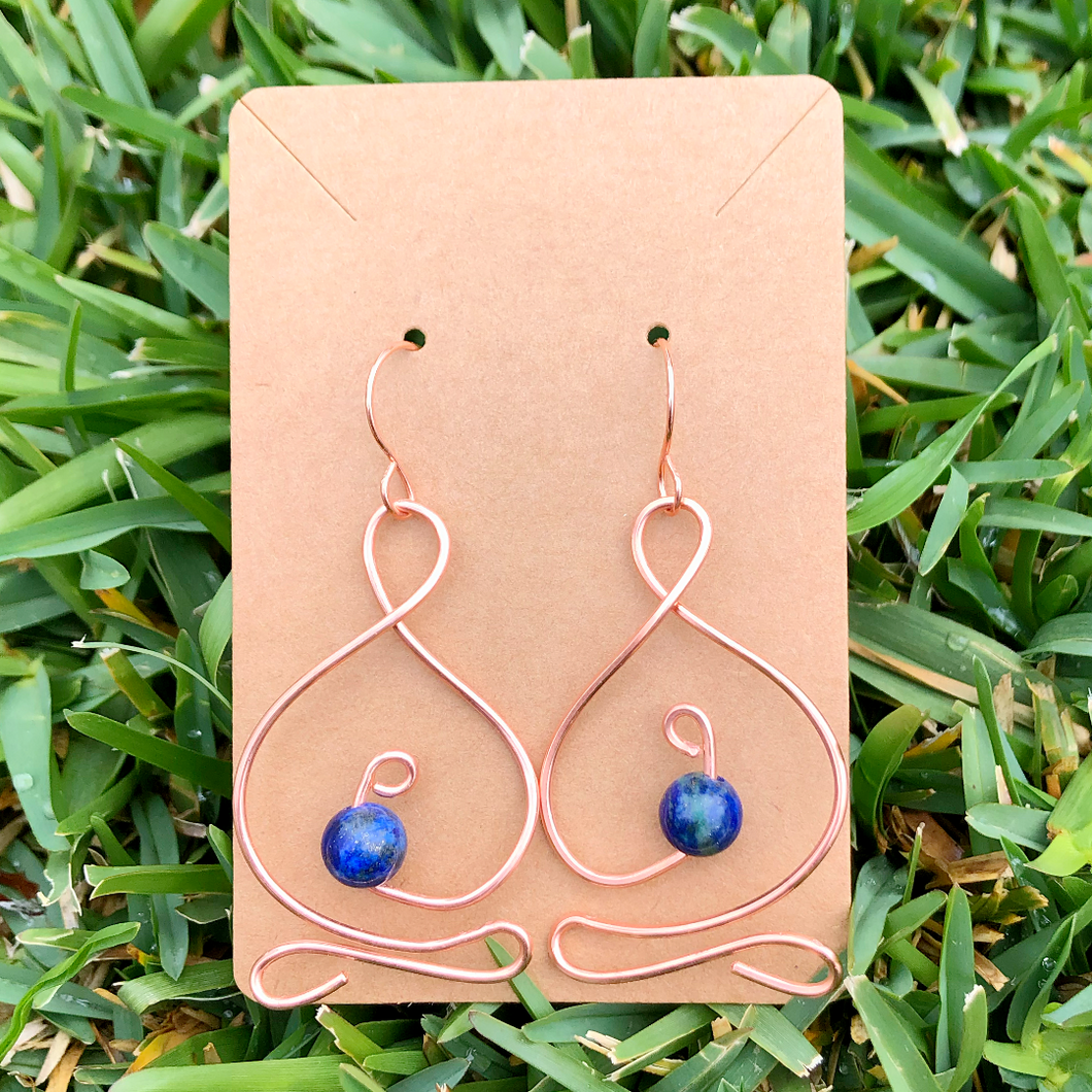 *FEATURED ARTIST* Lapis Lazuli Copper Yogi Earrings