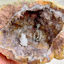 Load image into Gallery viewer, Alien Starting a Fire in Quartz Geode