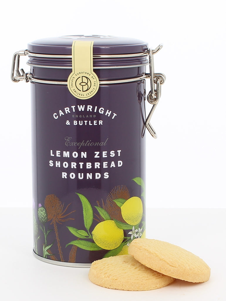 C&B LEMON ZEST SHORTBREAD ROUNDS IN TIN 200G - Khubchands