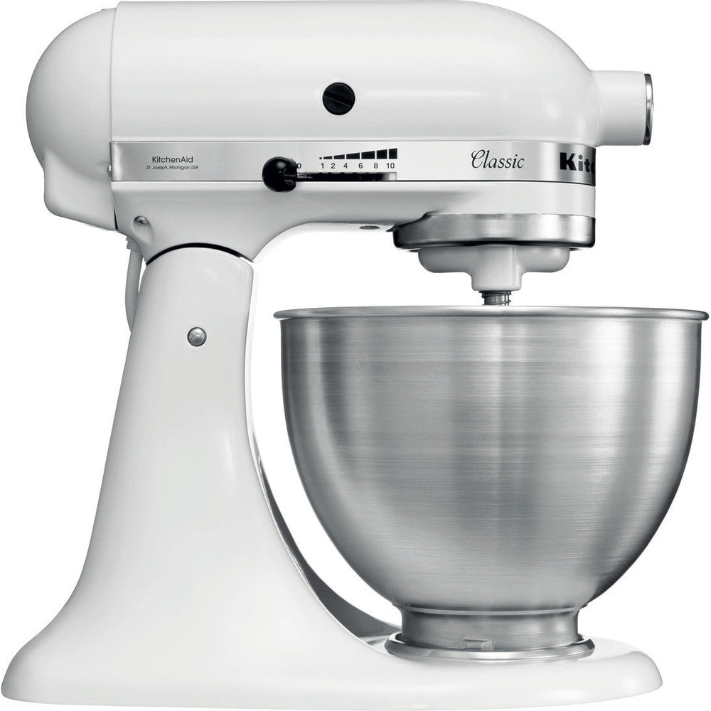 KITCHENAID 5K45SSEWH CLASSIC WHITE - Khubchands