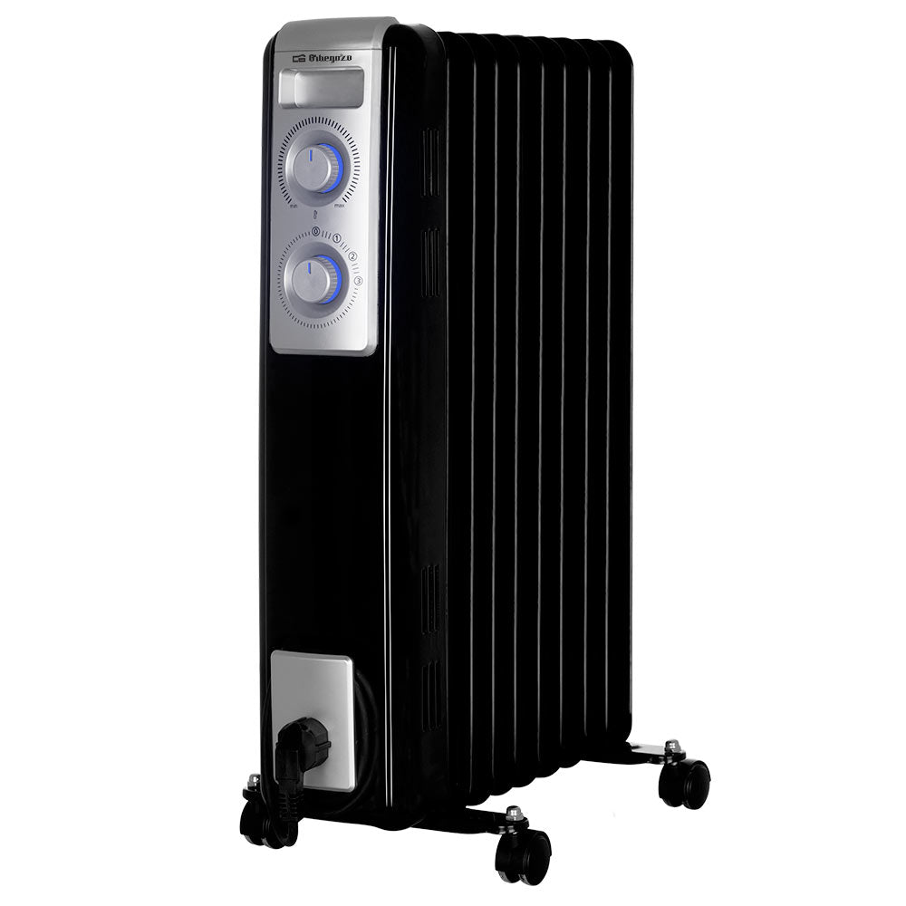 ORBEGOZO OIL RADIATOR BLACK STYLE 1000W - 2500W - Khubchands