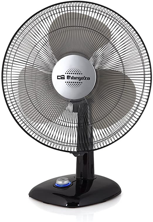 "ORBEGOZO TF0134 DESKTOP 30CM FAN 12"" IN BLACK - Khubchands"