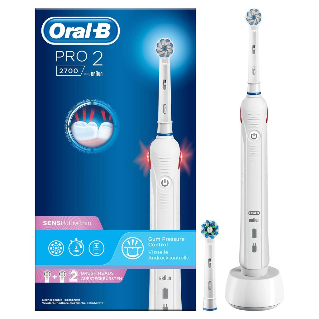 ORAL B PRO 2 2700 WHITE TOOTHBRUSH - Khubchands