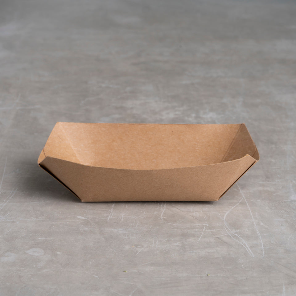 Compostable paper food tray