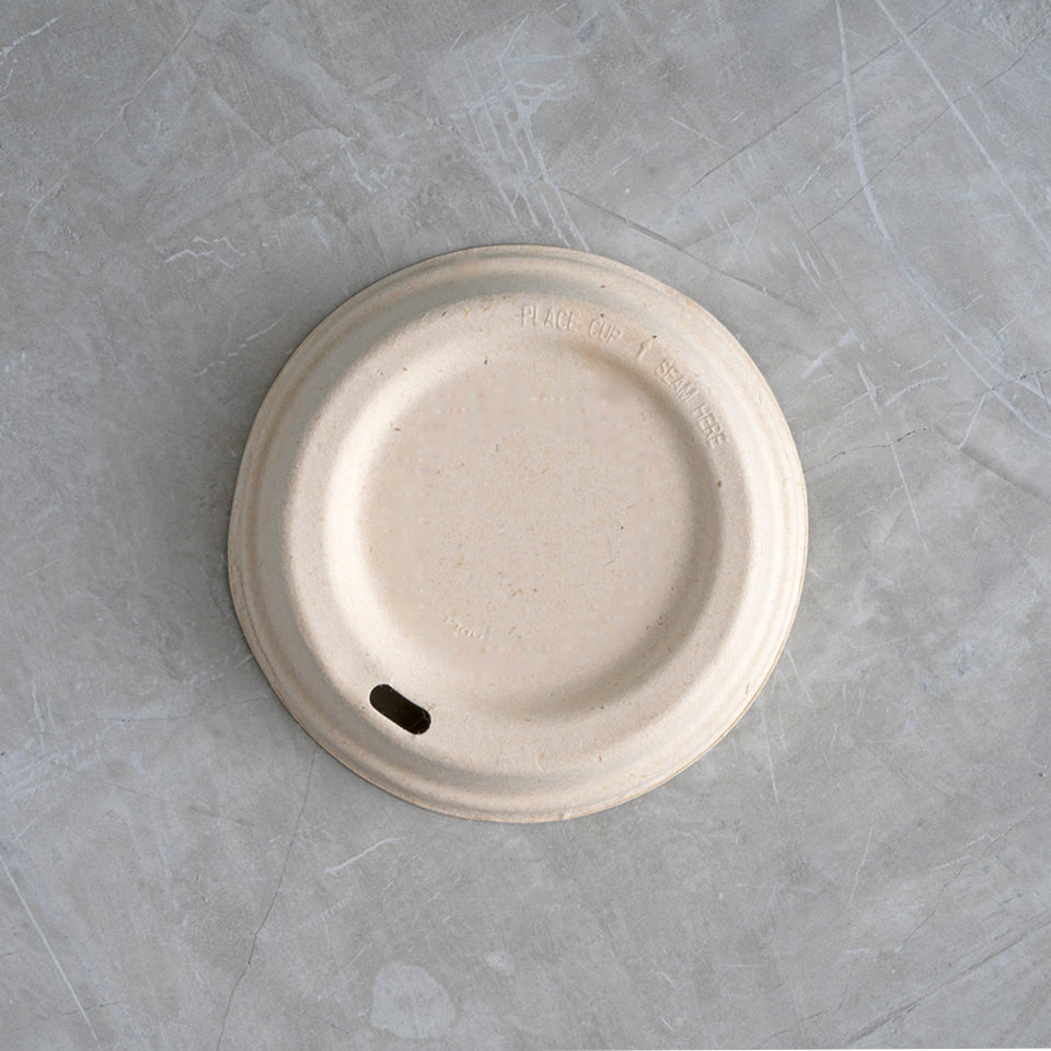 Strong compostable bamboo coffee lid