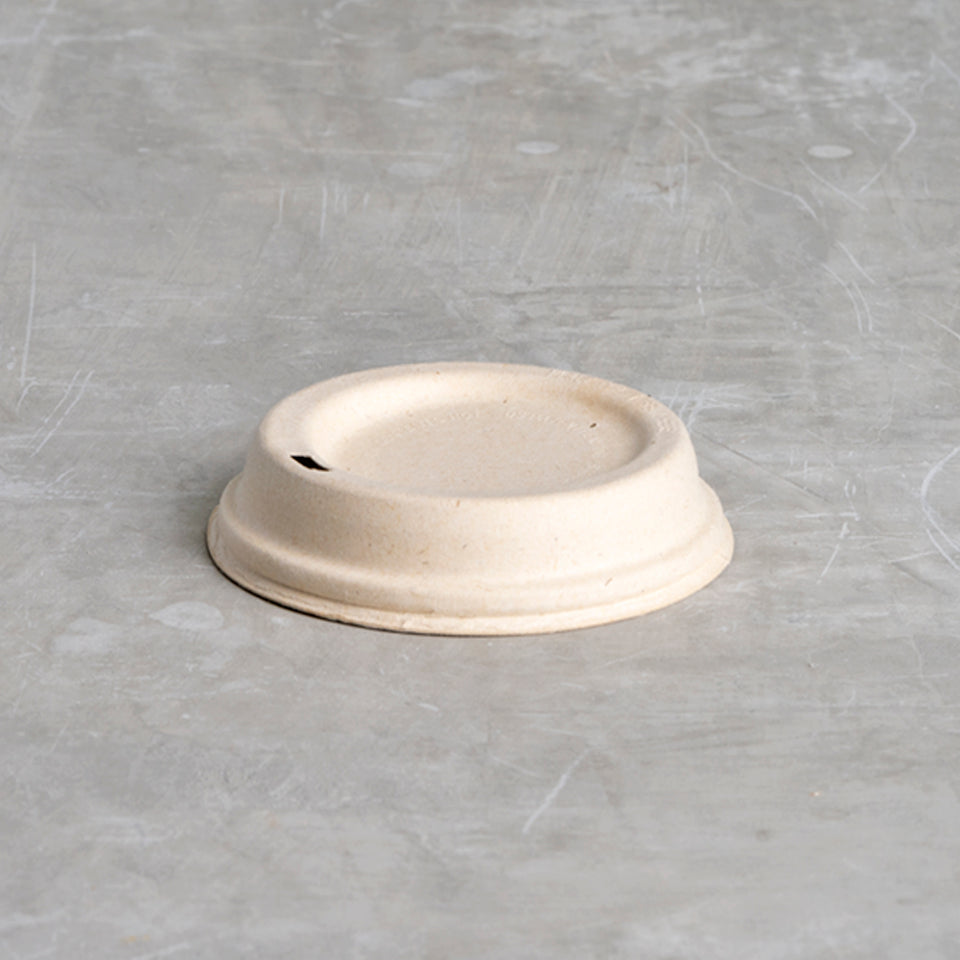 Compostable bamboo coffee lid