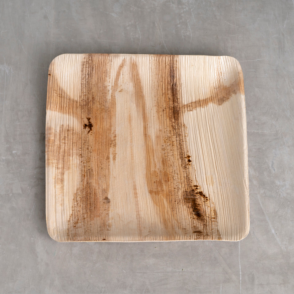 "Palm Leaf Plate - 6"" Square"