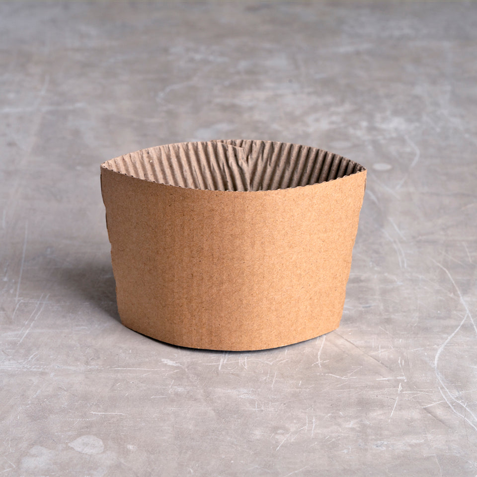 Recycled paper coffee sleeve