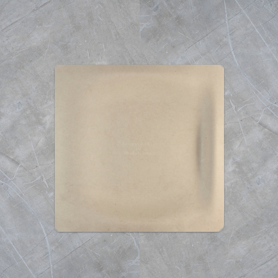 "Wheat Fiber Plate - 9"" Square"