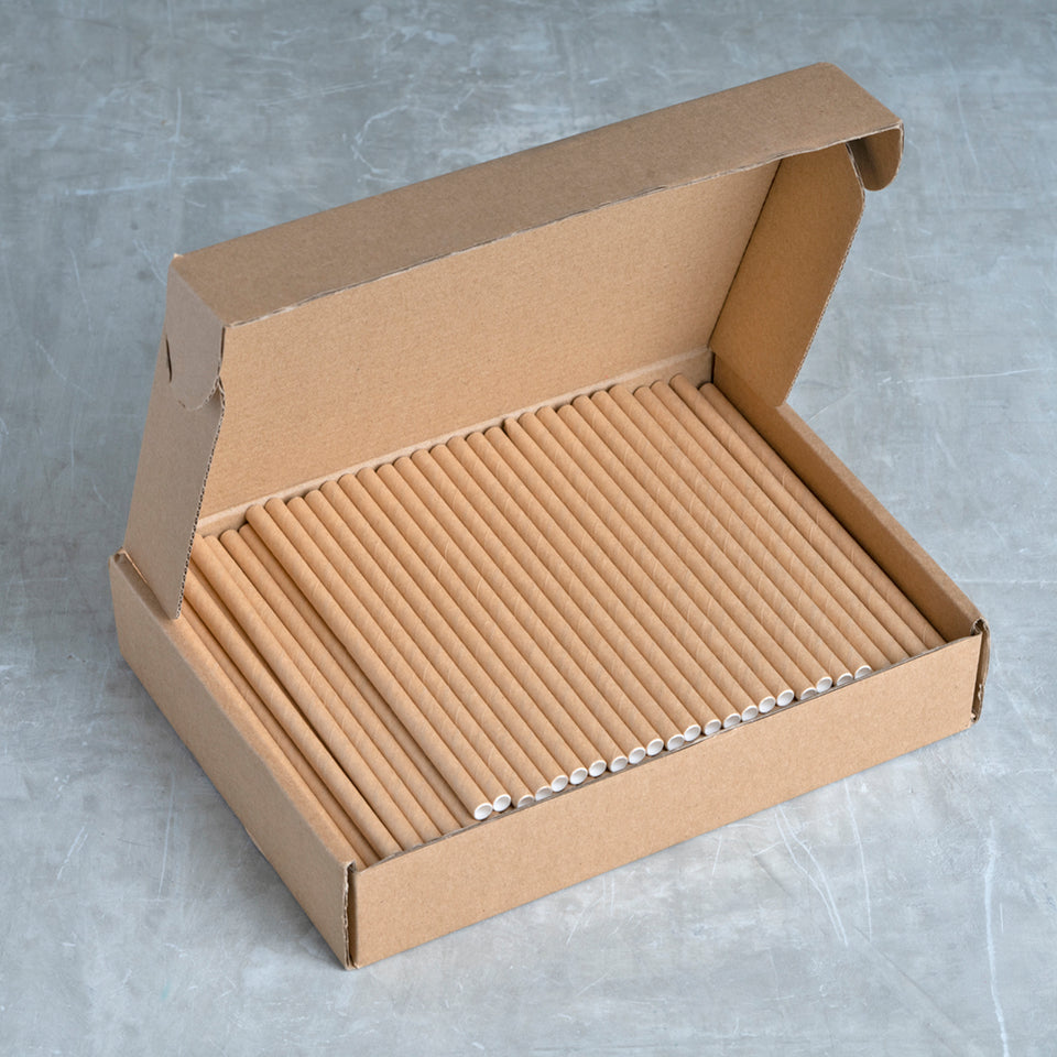 "Cocktail Paper Straw - 5.75"" - Kraft"