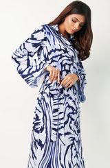 Blue marble print kurta (one piece)