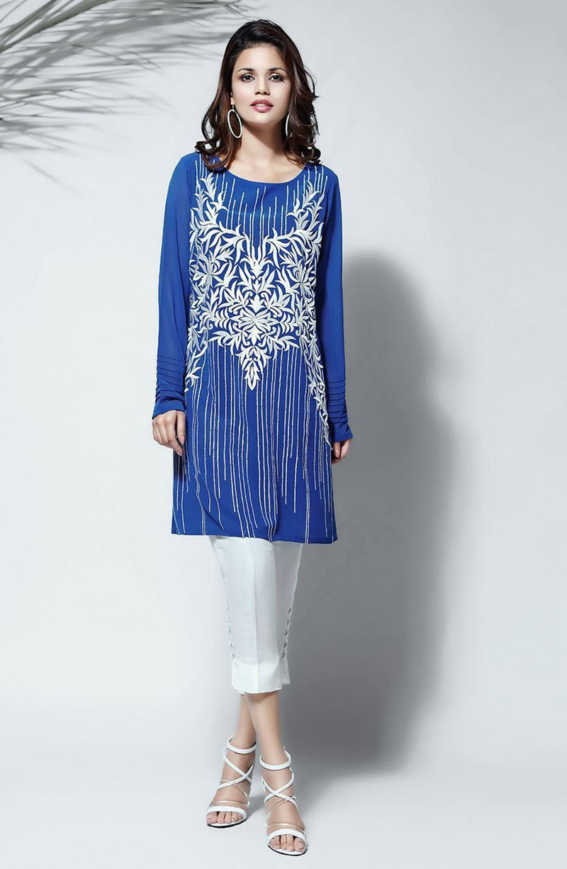Blue Tunic-Embroidered.