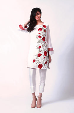 White Floral Tunic.