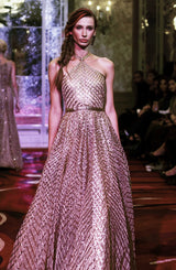Gown- Hand crafted gota mesh- floor length