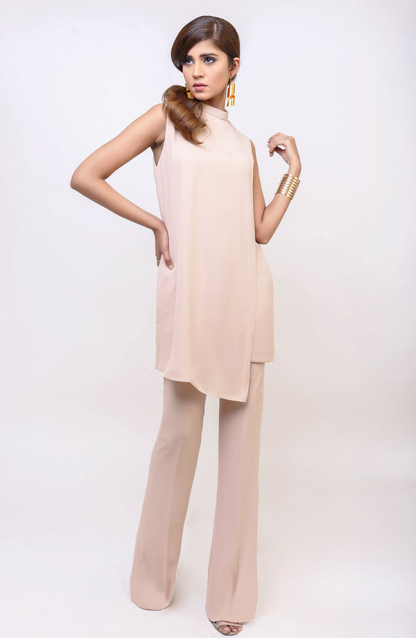 Beige Dress-parfait nude. (One piece).