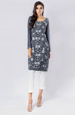 Grey tunic- Heavily Embroidered (two piece set)