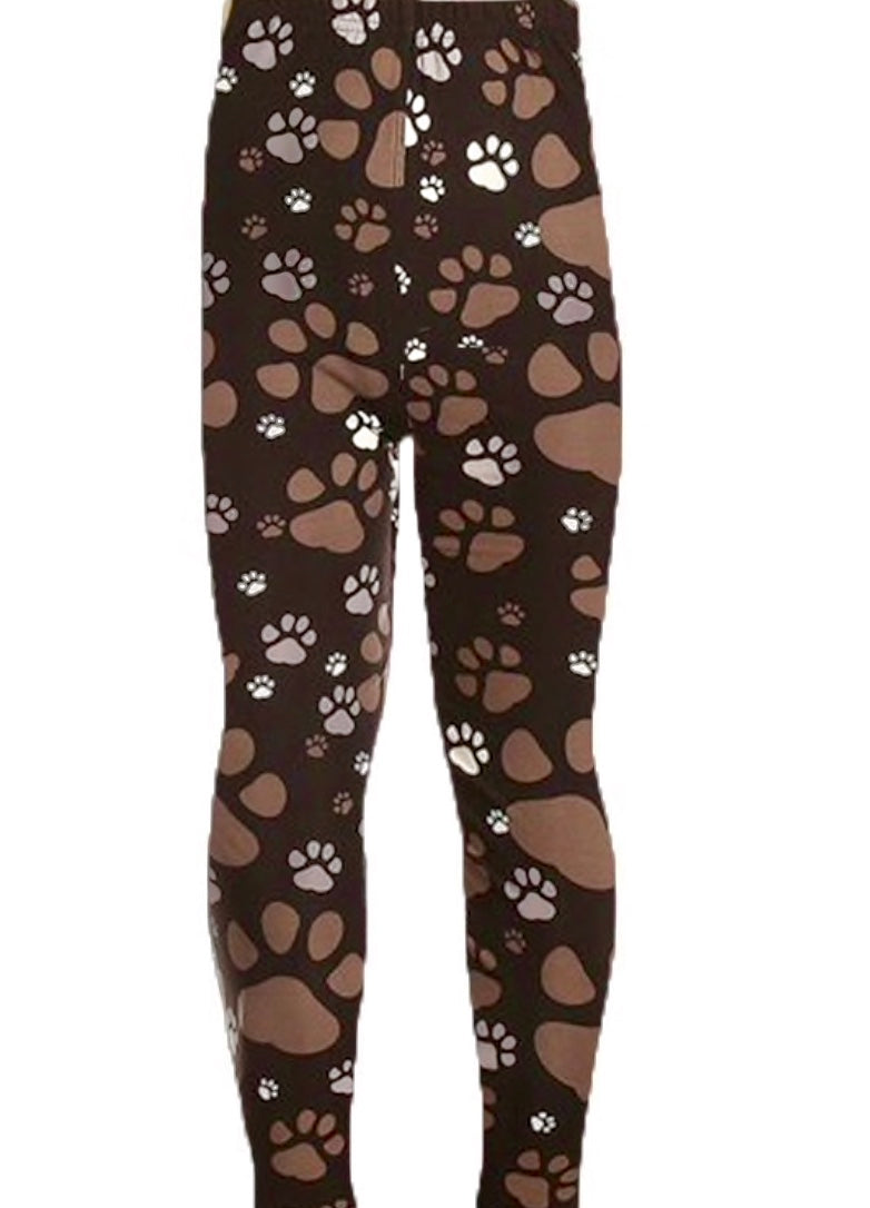 Leggings - Kids - Muddy Paw Print