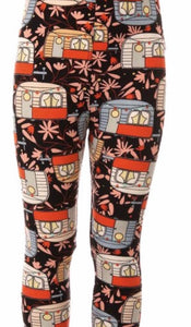Leggings - Kids - White Camper