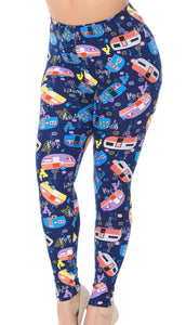 Leggings - Blue Campers