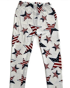 Leggings - Kids - Ivory USA Flag