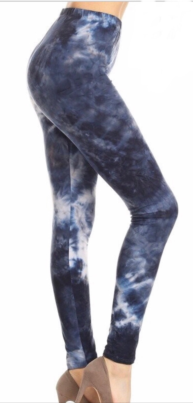 Leggings - Blue Tye Dye