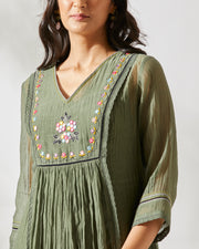 vintage JUNIPER GREEN BANJARA TUNIC SET