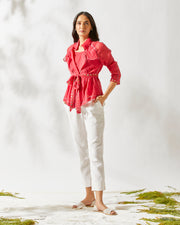 Red BANJARA TRENCH TOP