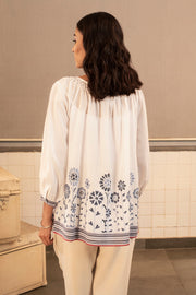 Metheny embroidered top