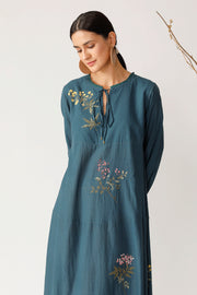 Grape vine Embroidered Dress
