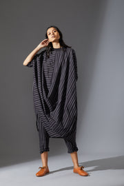 MATI COWL DRESS-AWBLACK