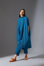 MATI COWL TUNIC SET - BLUE
