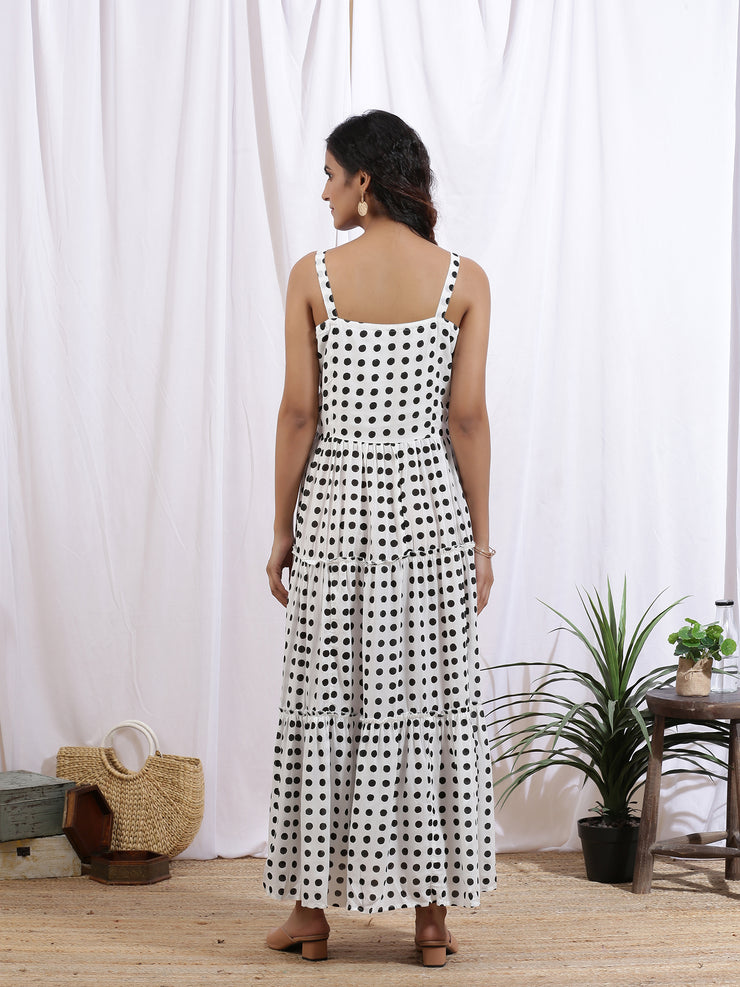 a line white printed women's dress. accidental denim dresses for women's