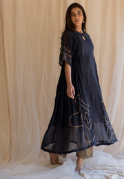 black shabnam kurta and izaar set