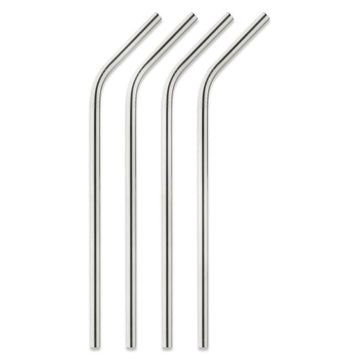 Set of 4 Stainless Steel Straws