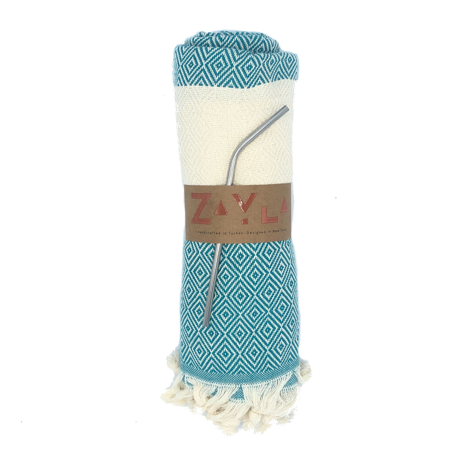 Kash Bamboo Towel  ╳ Turquoise