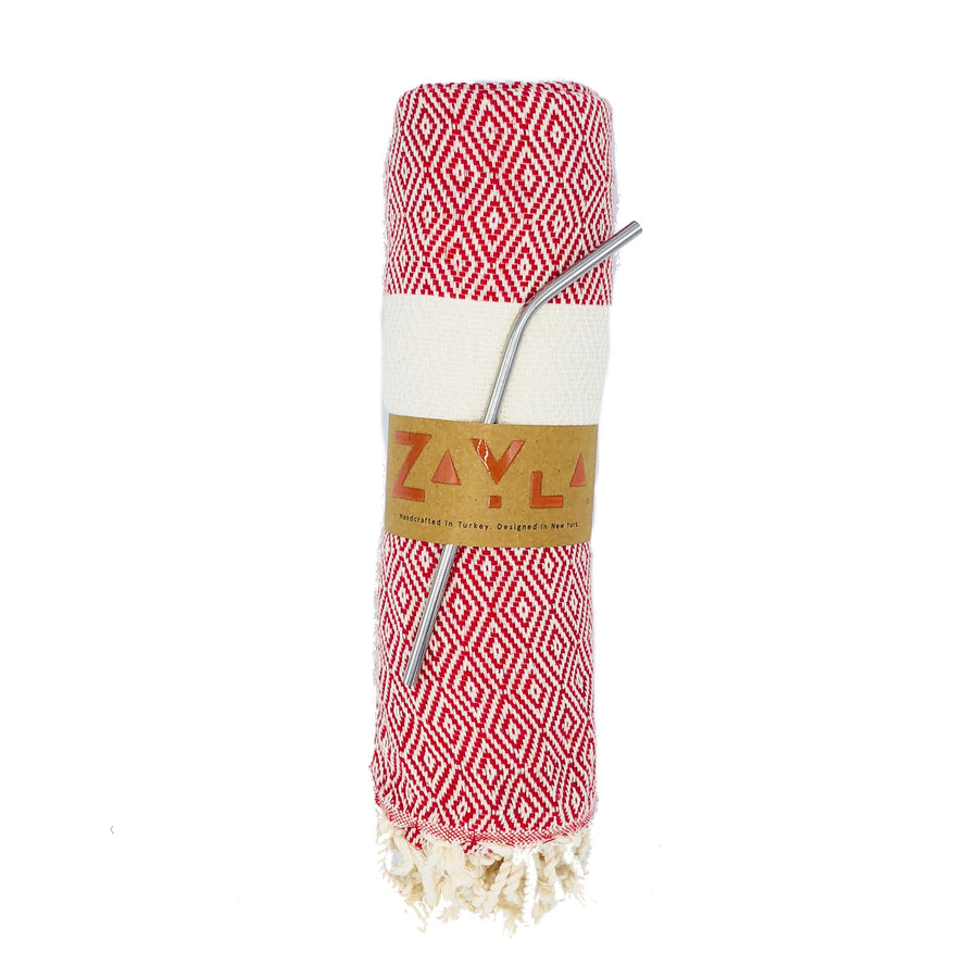 Kash Bamboo Towel ╳ Red