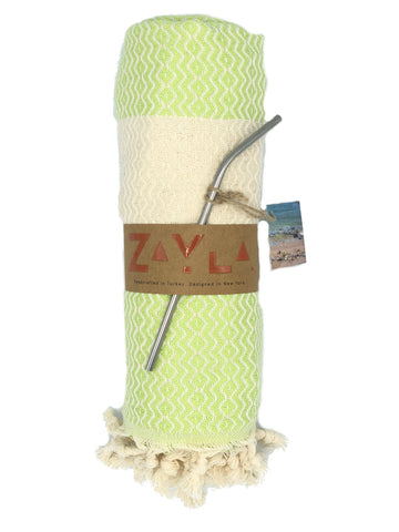 Kash Bamboo Towel  ╳ Lime