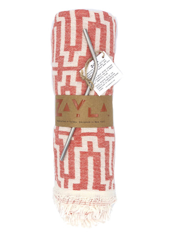 Montauk Cotton Towel ╳ Coral T's